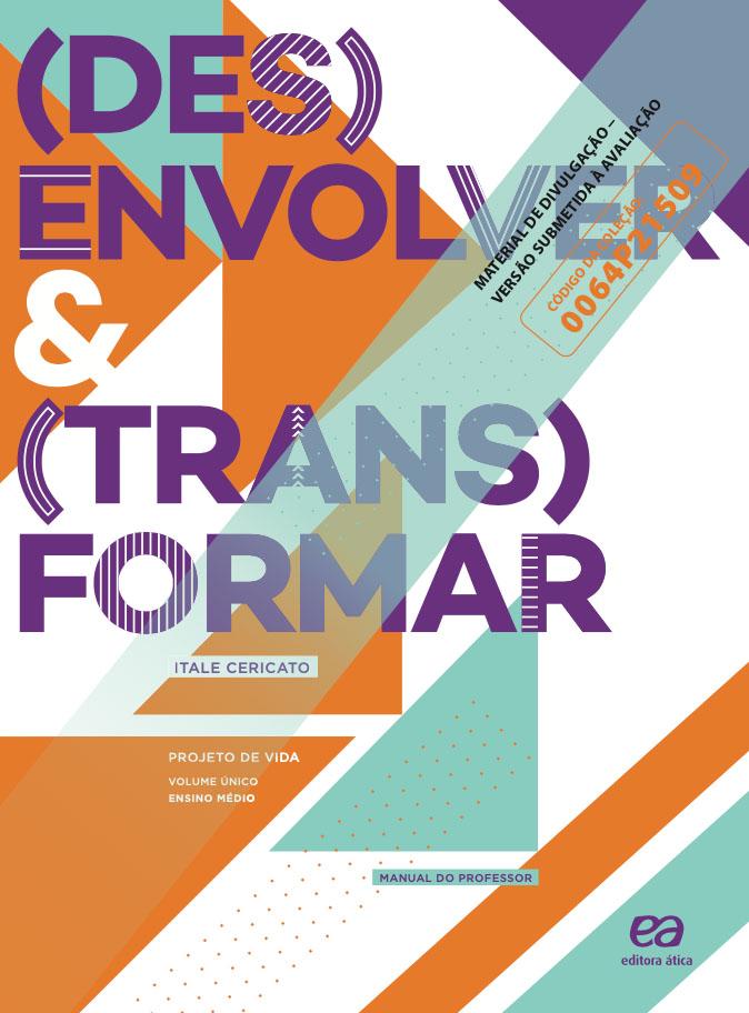 Capa do livro (Des)envolver e (Trans)formar - Projeto de Vida